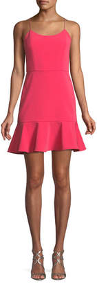 Alice + Olivia Andalasia Sleeveless Flounce-Hem Mini Dress