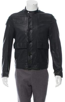 Gucci Button-Up Leather Jacket