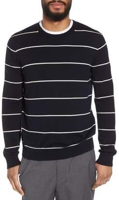 Vince Slim Fit Stripe Crewneck Sweater