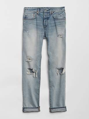 Gap Limited-Edition Cone Denim® Distressed Selvedge Jeans in Slim Fit