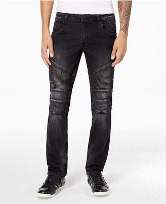INC International Concepts I.N.C. Men's Stretch Moto Skinny Jeans, Created for Macy's