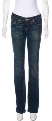 True Religion Low-Rise Straight-Leg Jeans