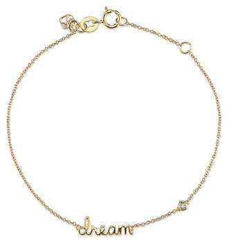 Sydney Evan Syd by 14K Yellow Gold Plated Sterling Silver Diamond 'Dream' Bracelet - 0.015 ctw