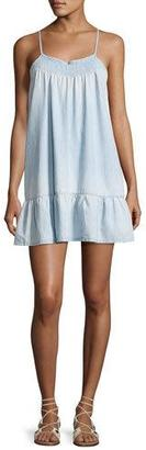 Soft Joie Kunala Chambray Tank Dress, Blue $158 thestylecure.com