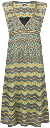 M Missoni lamé zig-zag flared dress