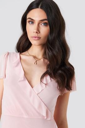 Kristin Sundberg For Na Kd Asymmetric Frill Mesh Dress