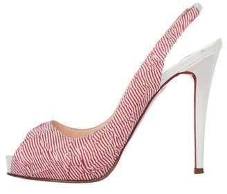 Christian Louboutin Slingback Open-Toe Sandals
