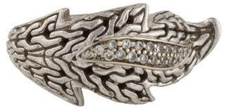John Hardy Diamond Ayu Leaf Band