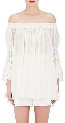 Chloé WOMEN'S COTTON OFF-THE-SHOULDER SWING BLOUSE