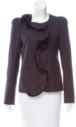 Sonia Rykiel Velvet-Trimmed Wool Jacket