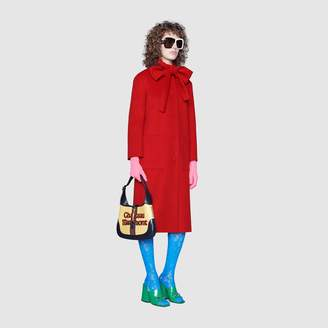 Gucci Wool coat with self-tie