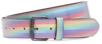 Vetements Rainbow striped leather belt