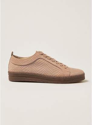 Topman Mens Pink Suede Croc Drape Trainers