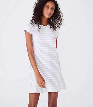 Lou & Grey Striped Signaturesoft Pocket Tee Dress
