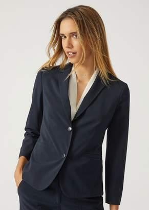 Emporio Armani Single-Breasted Two-Button Jacket