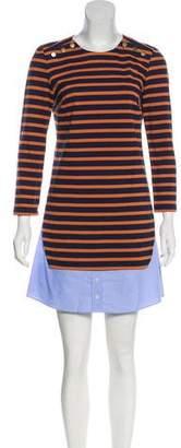 Veronica Beard Striped Mini Dress