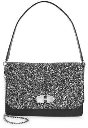 Carven Sac Bandoulliere Large Leather Encrusted Crossbody