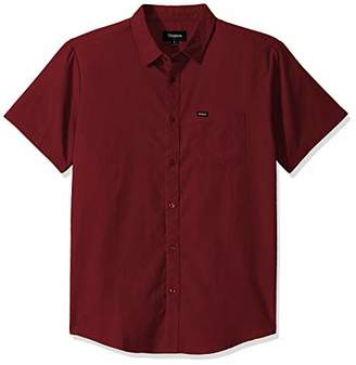 Brixton Men's Charter Oxford Standard FIT Short Sleeve Woven Shirt