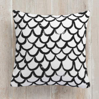 Brushed Scallops Square Pillow