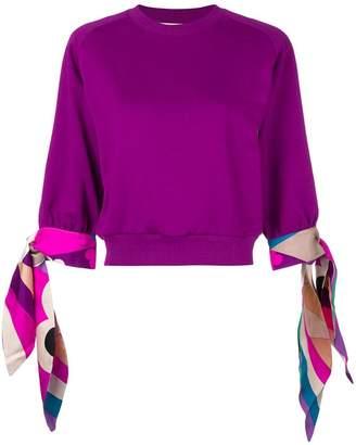 Emilio Pucci ribbon cuffs sweater