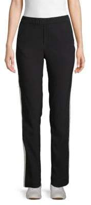 Anna Sui Metallic Stripe Pull-On Trousers