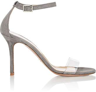 Barneys New York Women's Suede & PVC Ankle-Strap Sandals