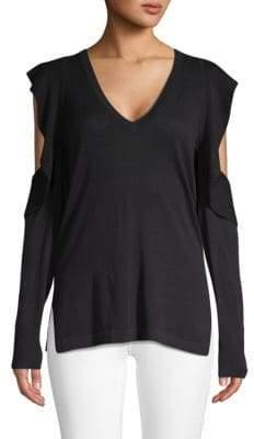 BCBGMAXAZRIA Emile Cold-Shoulder Sweater