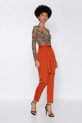 Nasty Gal Love Never Belt So Good Tapered Pants