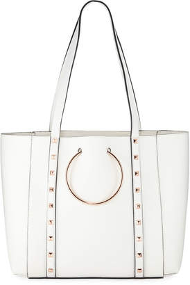 Neiman Marcus Soho Studded Faux-Leather Tote Bag