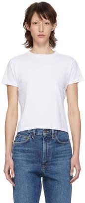 A Gold E Agolde White Baby T-Shirt