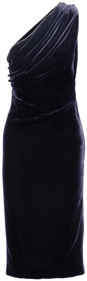 Cushnie et Ochs - One-shoulder Cutout Velvet Dress - Midnight blue $1,695 thestylecure.com