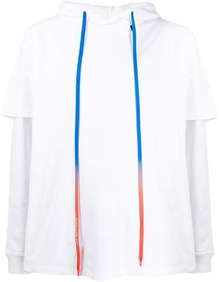 Off-White oversized layered sleeve hoodie