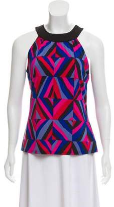 Tahari Sleeveless Printed Top