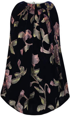 Helena Velvet Burnout Floral Dress, Size 7-14