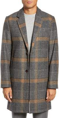 Ted Baker Frais Check Wool Overcoat