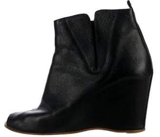 b0a7efe81cf Pre-Owned at TheRealReal · MM6 MAISON MARGIELA MM6 by Maison Martin Margiela  Peep-Toe Wedge Boots