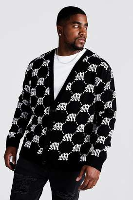 boohoo Big & Tall Gothic M All Over Knitted Cardigan