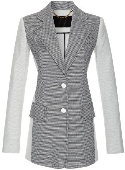 Harbison Gingham Stretch Cotton Blazer