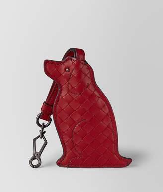 Bottega Veneta China Red Dog Keyring