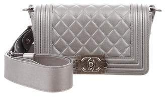 Chanel Galuchat-Accented Small Quilted Boy Bag