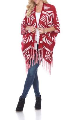 White Mark Women's Cherokee Patterned Cardigan
