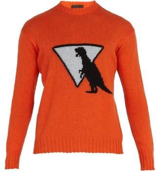 Prada Dinosaur Wool Sweater - Mens - Orange Multi