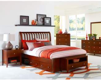 Hillsdale Furniture Pulse Rake Sleigh Bed with Storage, Multiple Sizes and Colors