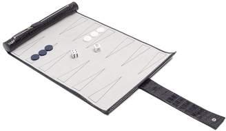 Smythson Mara leather travel backgammon set