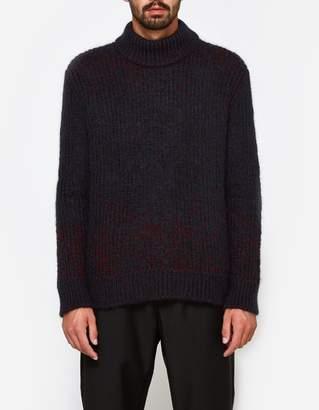 Jil Sander Crew Neck LS Sweater in Open Red
