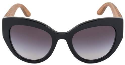 Dolce & Gabbana Cat Eye Sunglasses DG4278 501 8G 52 | Black Frame | Gray Gradient Lenses