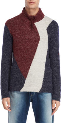 Armani Jeans Color Block Slim Fit Sweater