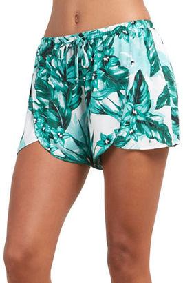 BB Dakota Tropical Print Shorts