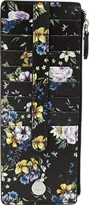 Lodis Posy Credit Card Case with Zipper Pocket