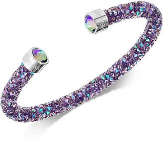 Swarovski Silver-Tone Crystal Rock Cuff Bracelet